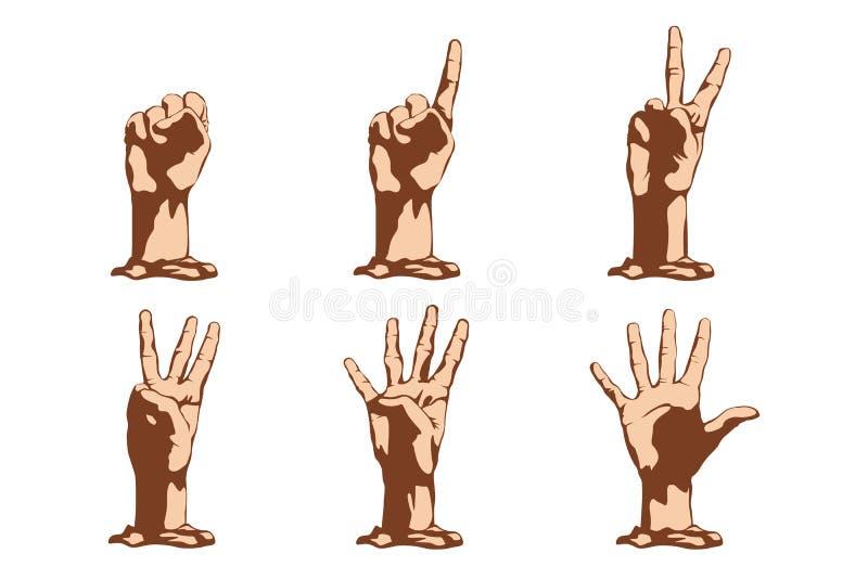 Beeld van handen stock illustratie