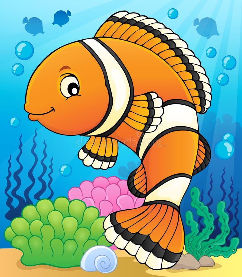Beeld 2 van het Clownfishonderwerp stock illustratie