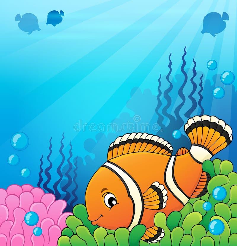 Beeld 4 van het Clownfishonderwerp vector illustratie