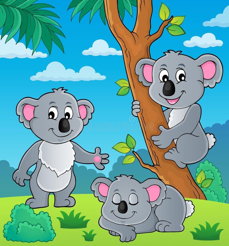 Beeld 1 van het koalathema royalty-vrije illustratie