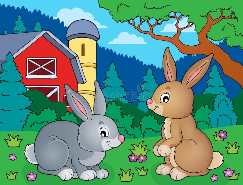 Beeld 5 van het konijnonderwerp vector illustratie