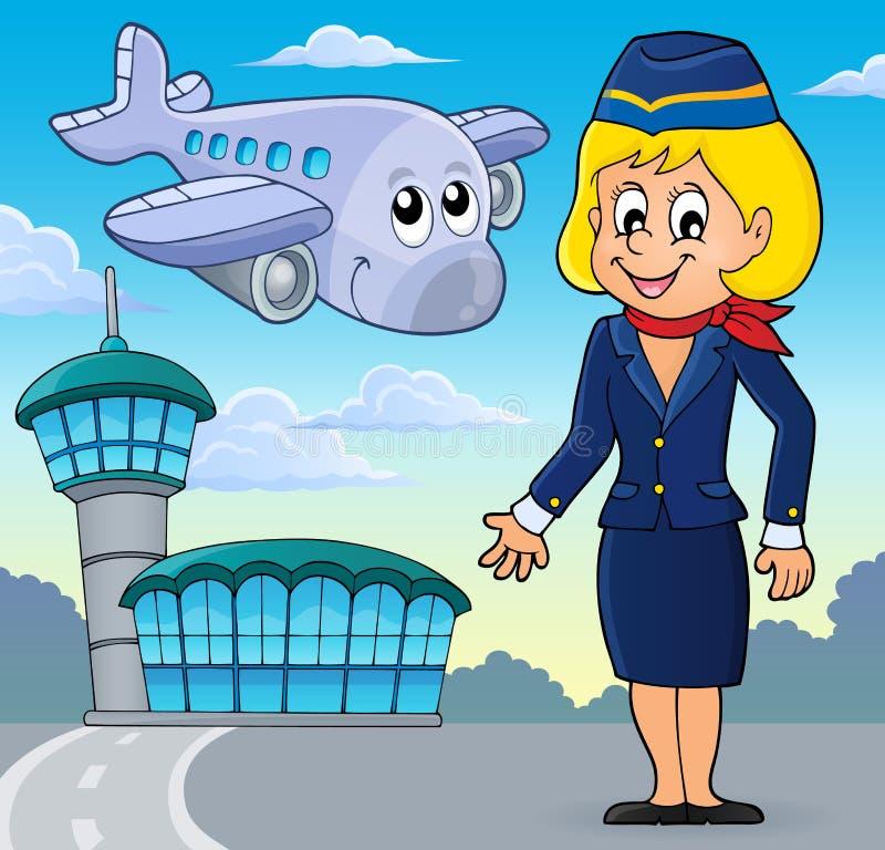 Beeld 2 van het luchtvaartthema royalty-vrije illustratie