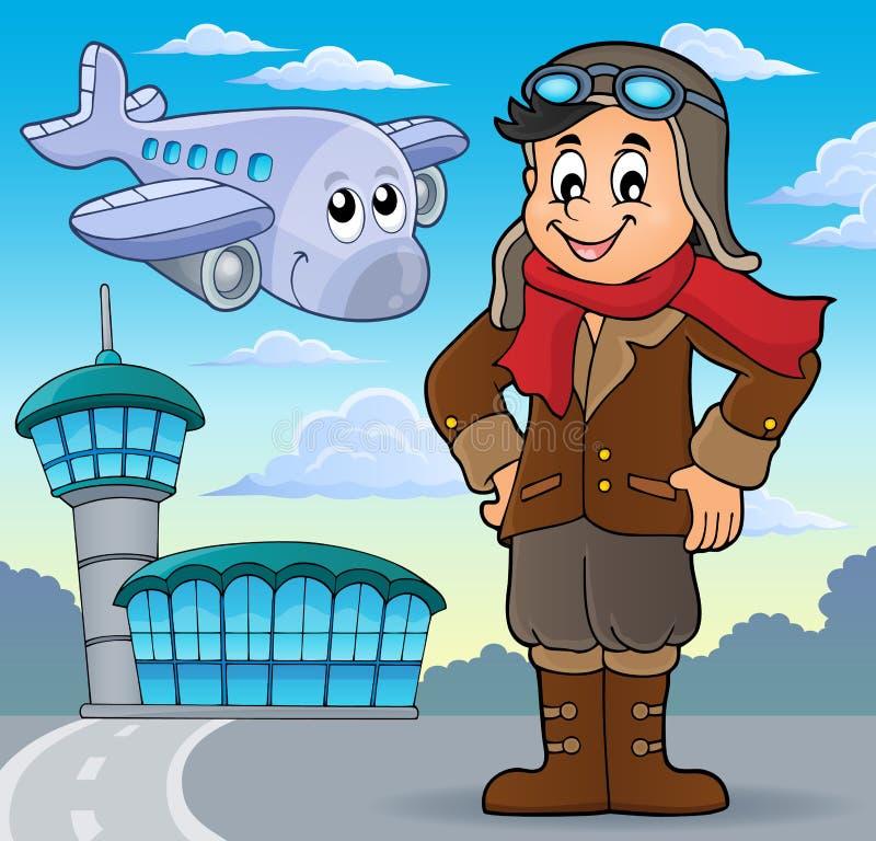 Beeld 4 van het luchtvaartthema royalty-vrije illustratie