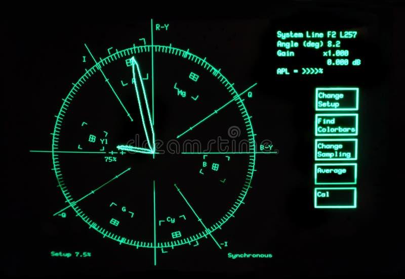 Beeld van het radarscherm royalty-vrije stock afbeeldingen