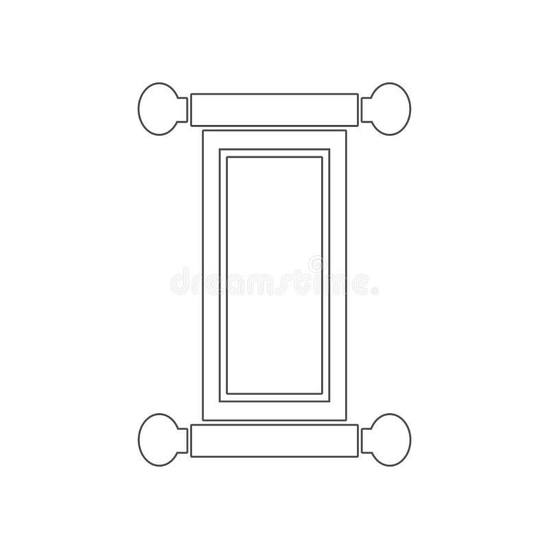 Beeld van het Rolpictogram Element van China voor mobiel concept en webtoepassingenpictogram Overzicht, dun lijnpictogram voor we vector illustratie