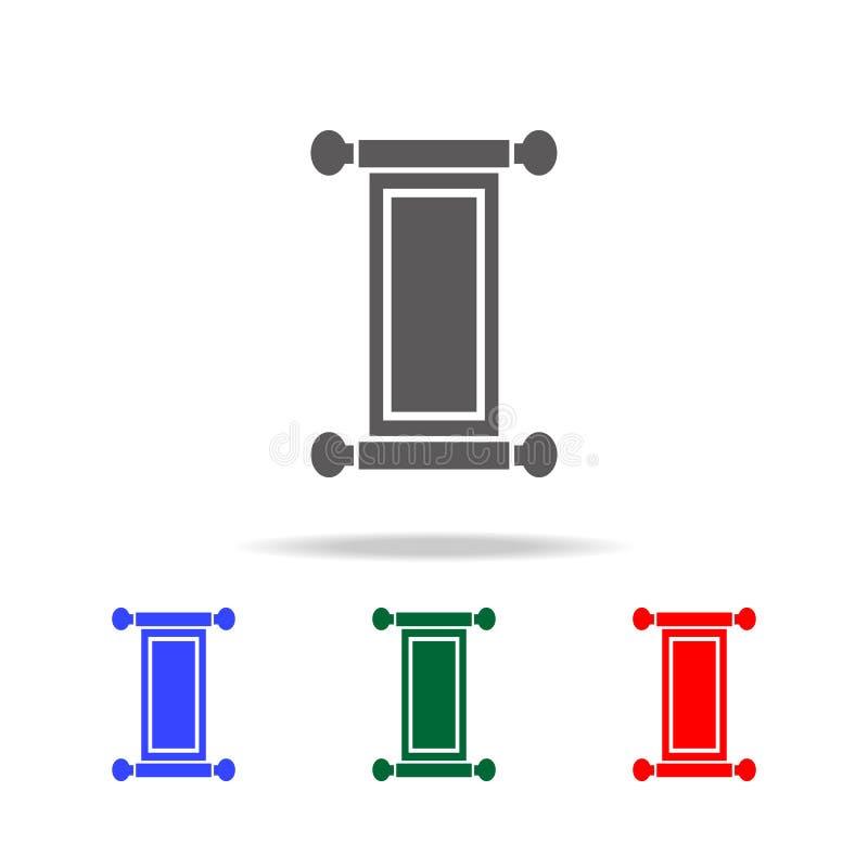 Beeld van het Rolpictogram Elementen van Chinese cultuur multi gekleurde pictogrammen Grafisch het ontwerppictogram van de premie stock illustratie