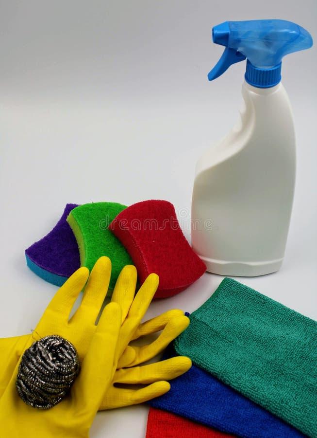 Beeld van het schoonmaken van werktuigen stock afbeelding