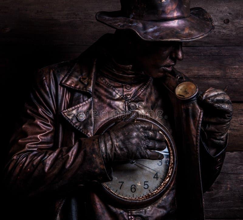 Beeld van horlogemaker in heldere fantasiestylization royalty-vrije stock foto