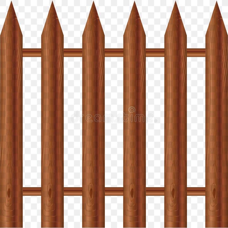 Beeld van houten omheining stock illustratie