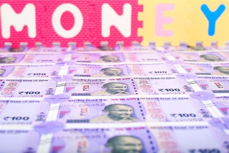 Beeld van Indisch geld stock foto's