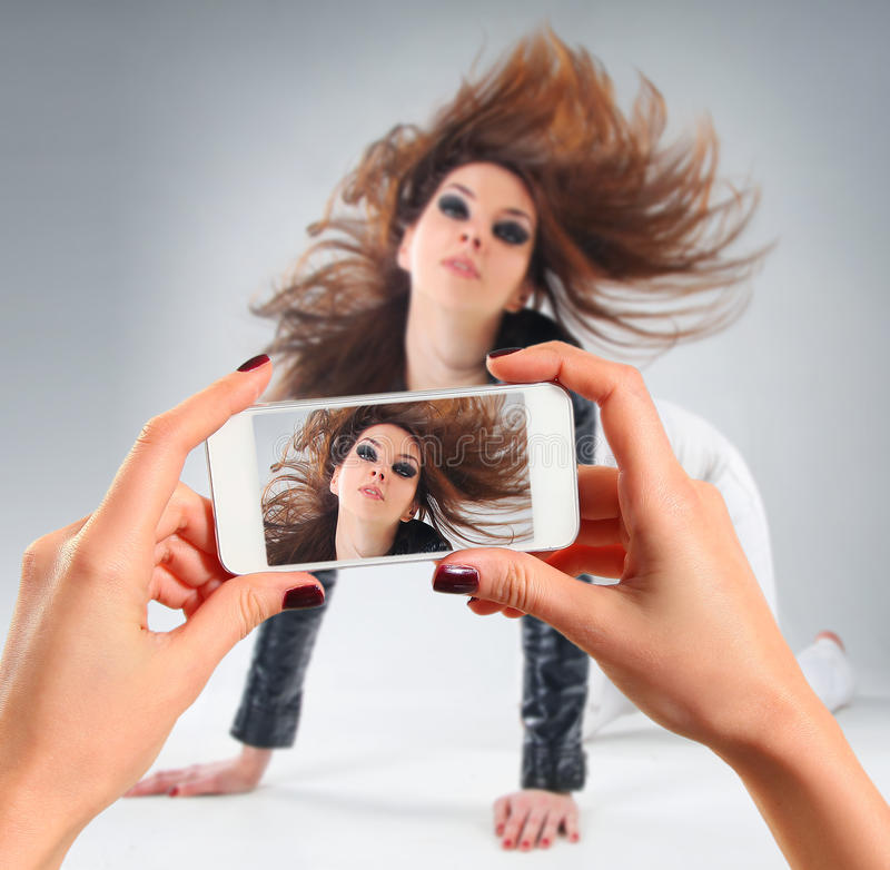 Beeld van jonge vrouw stock afbeeldingen