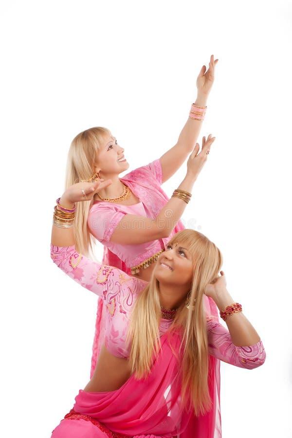 Beeld van leuke dansers stock foto