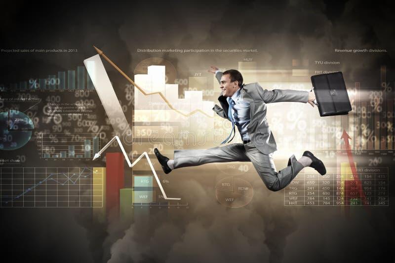 Download Beeld van lopende zakenman stock foto. Afbeelding bestaande uit jumping - 29511526
