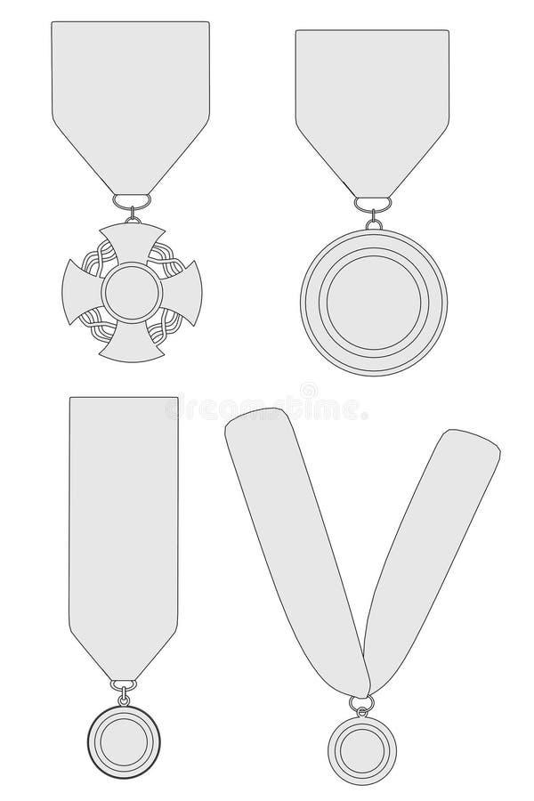 Beeld van medaillesreeks stock illustratie
