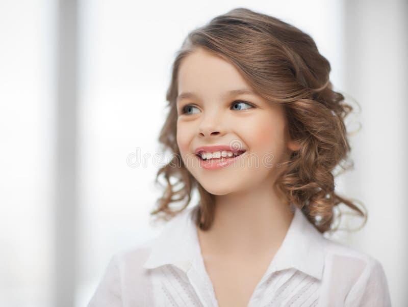 Meisje thuis stock foto's