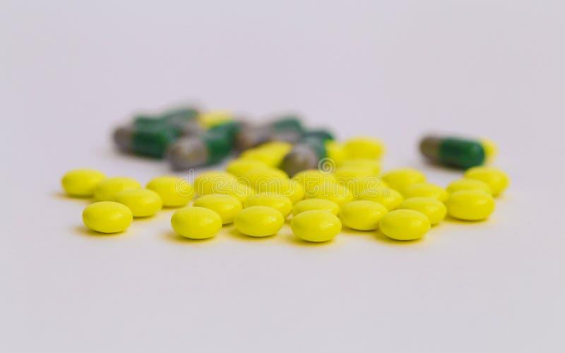Beeld van pillen stock foto's
