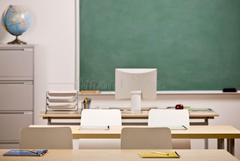 Beeld van schoolklaslokaal stock afbeeldingen
