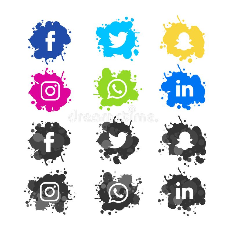 beeld van socia het media verwante pictogrammen Verhoudingen, het spreken royalty-vrije stock foto's