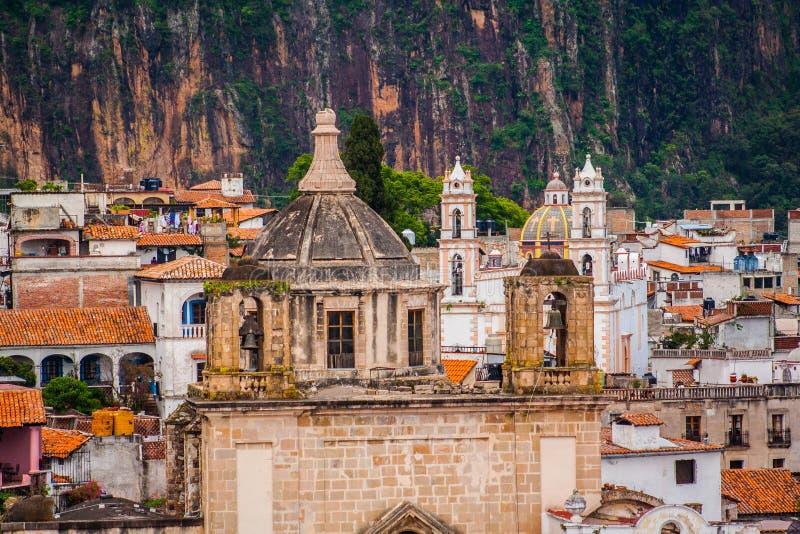Beeld van Taxco, Guerrero een kleurrijke stad in Mexico stock foto