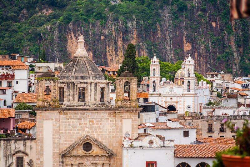 Beeld van Taxco, Guerrero een kleurrijke stad in Mexico royalty-vrije stock foto's