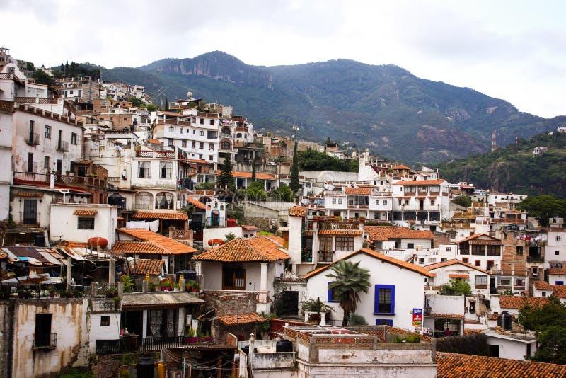 Beeld van Taxco, Guerrero een kleurrijke stad in Mexico royalty-vrije stock foto