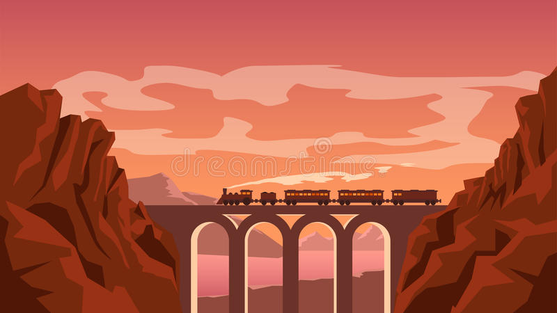 Beeld van trein vector illustratie