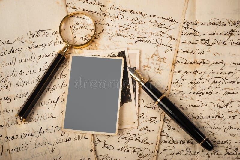 Beelden en brieven stock afbeeldingen