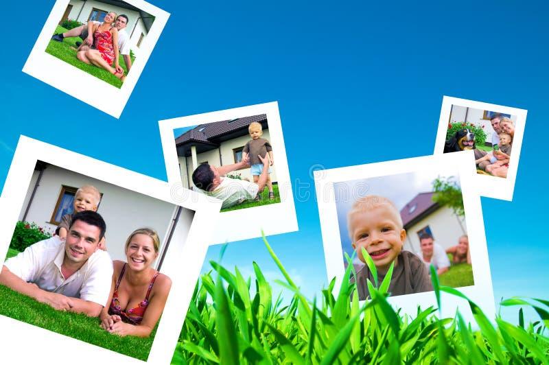 Beelden van gelukkige familie stock fotografie