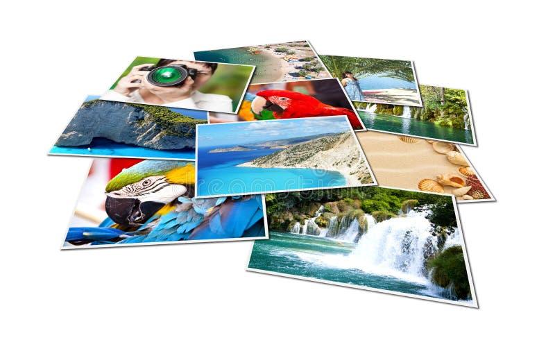 Beelden van vakantie. stock afbeeldingen