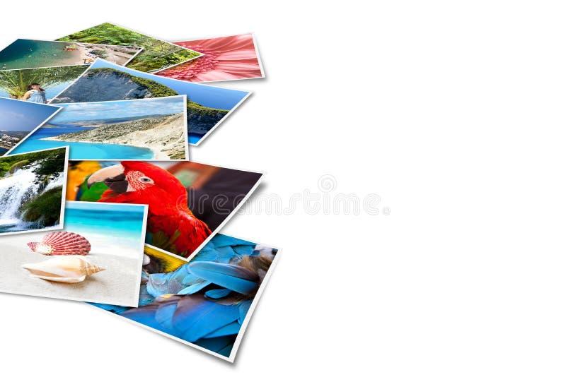 Beelden van vakantie. stock illustratie