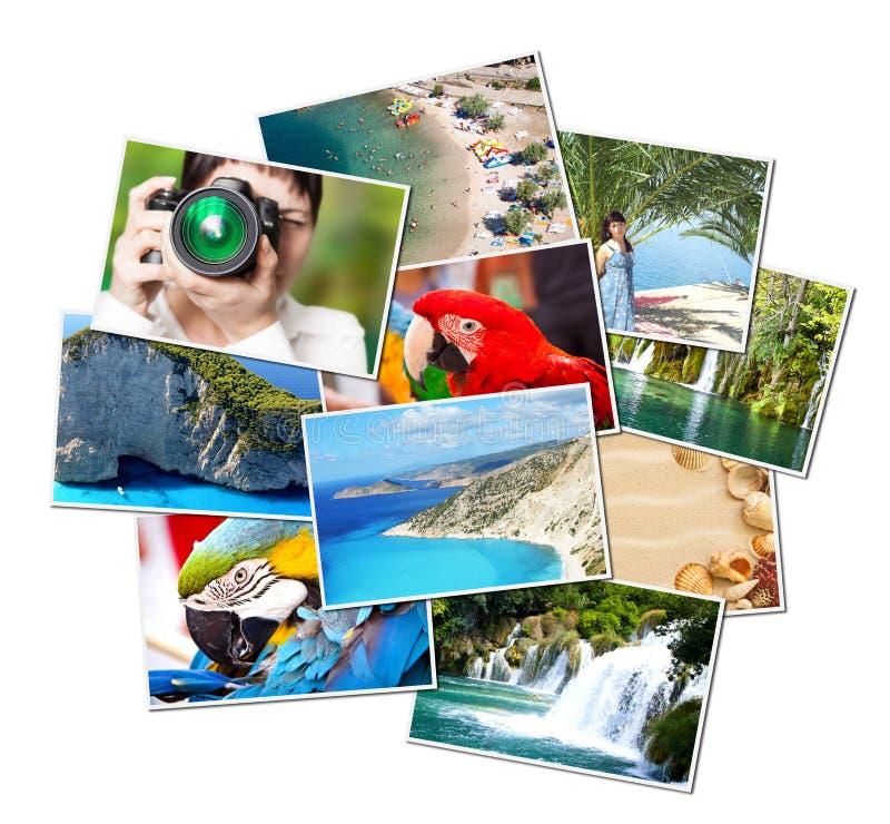 Beelden van vakantie. vector illustratie