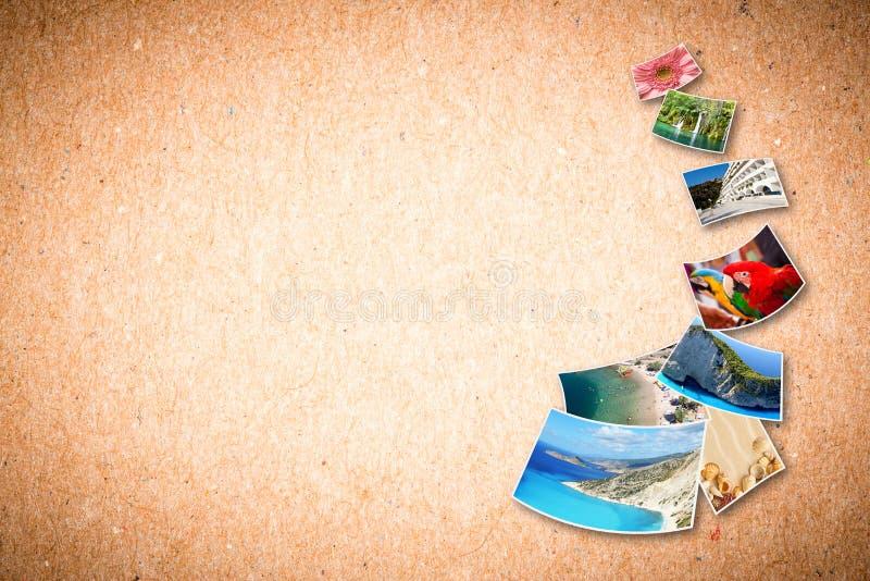 Beelden van vakantie. royalty-vrije illustratie