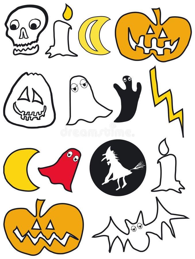 Beelden voor Halloween stock illustratie