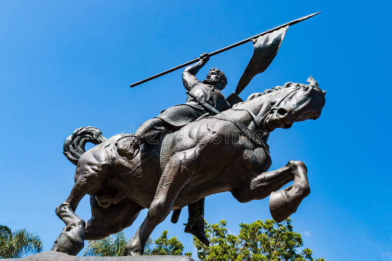 Beeldhouwer door Anna Hyatt Huntington, ` El Cid Campeador ` stock foto's