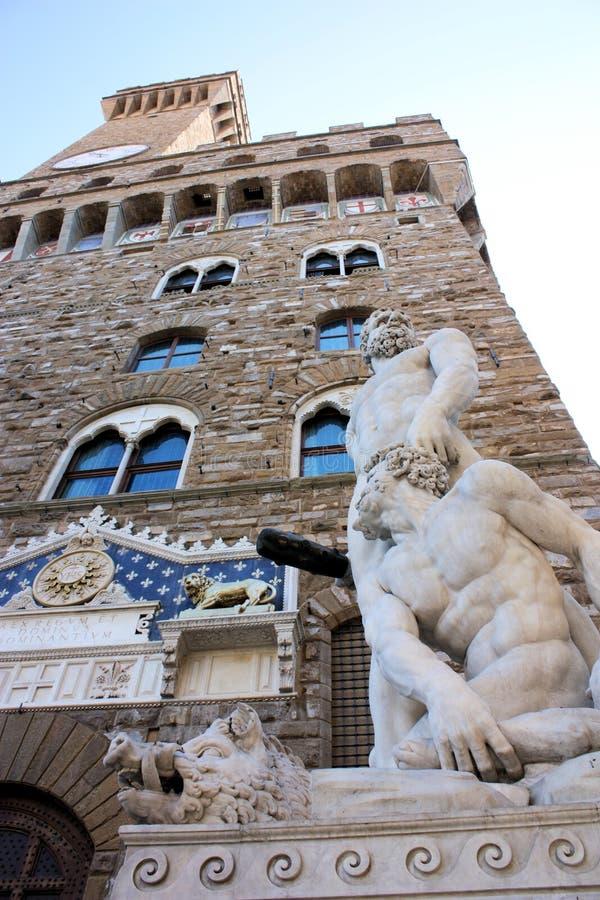 Beeldhouwwerk Florence - Hercules en Cacus royalty-vrije stock foto