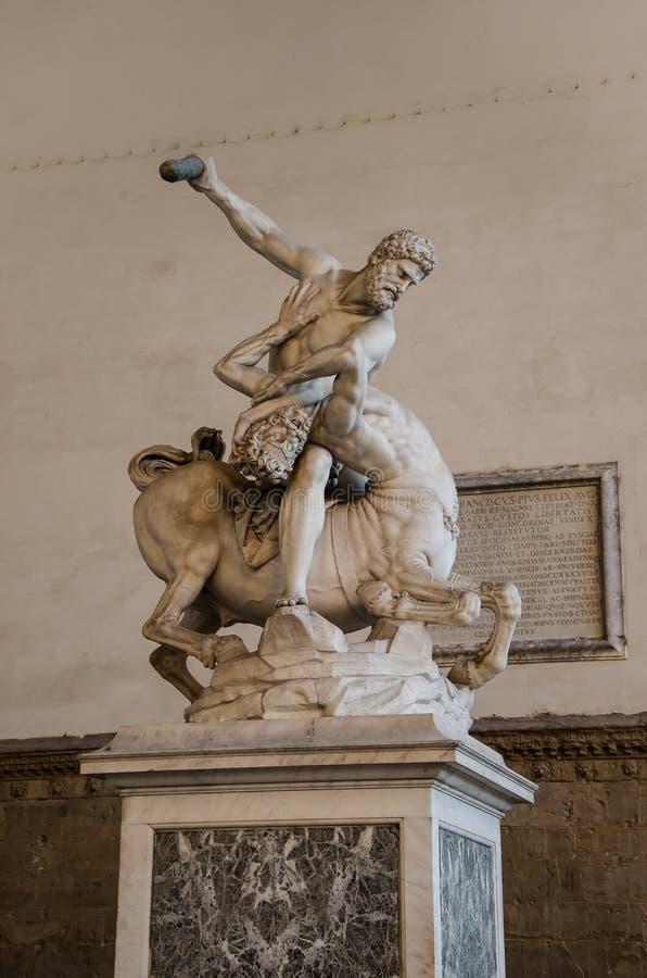 Beeldhouwwerk ` Hercules en de Centaur Nessus ` royalty-vrije stock afbeeldingen