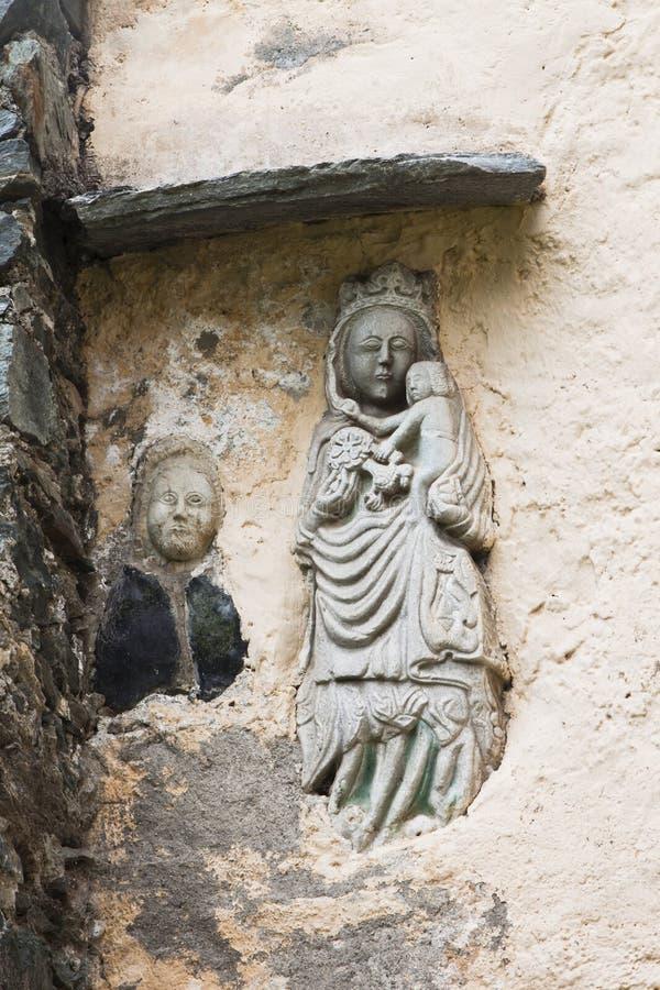 Beeldhouwwerk in Maria Schnee-bedevaartkerk, Oostenrijk stock foto's