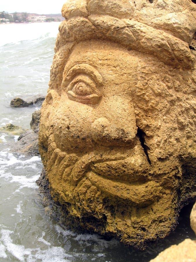 Beeldhouwwerk op een rots royalty-vrije stock afbeeldingen