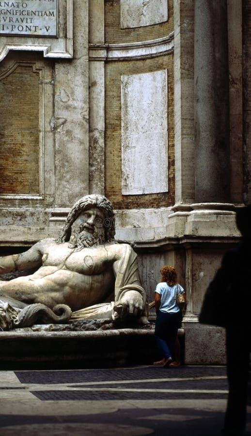 Beeldhouwwerk, Rome, Italië stock foto