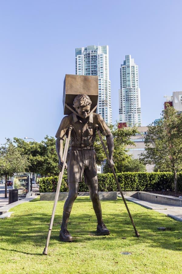"""Beeldhouwwerk """"The Toren van Snow† in Miami stock afbeelding"""