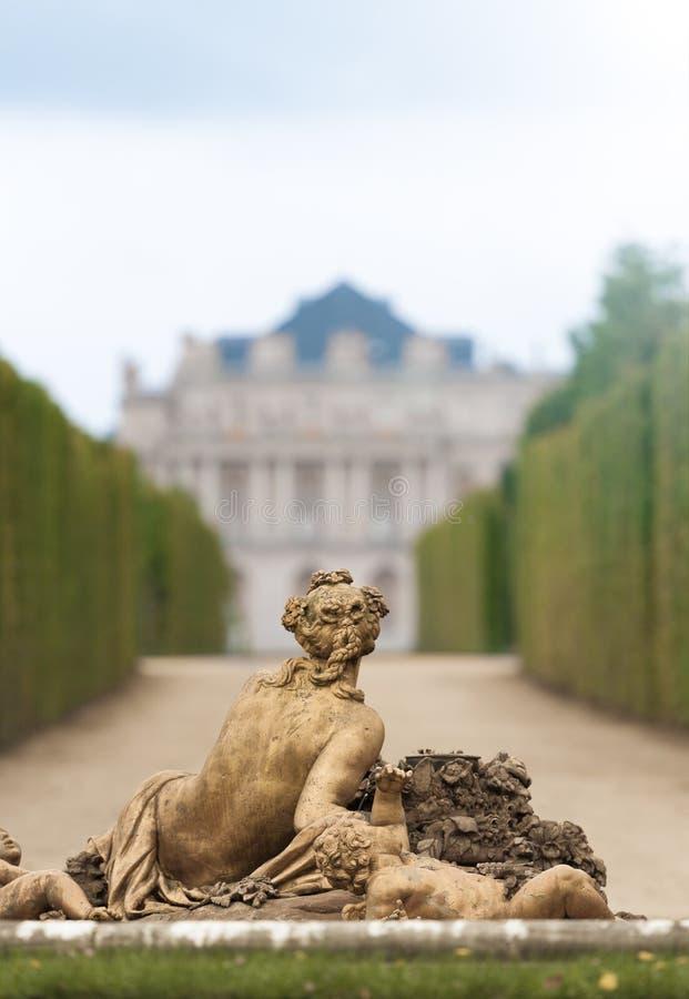 Beeldhouwwerk in tuin van Versailles. royalty-vrije stock foto