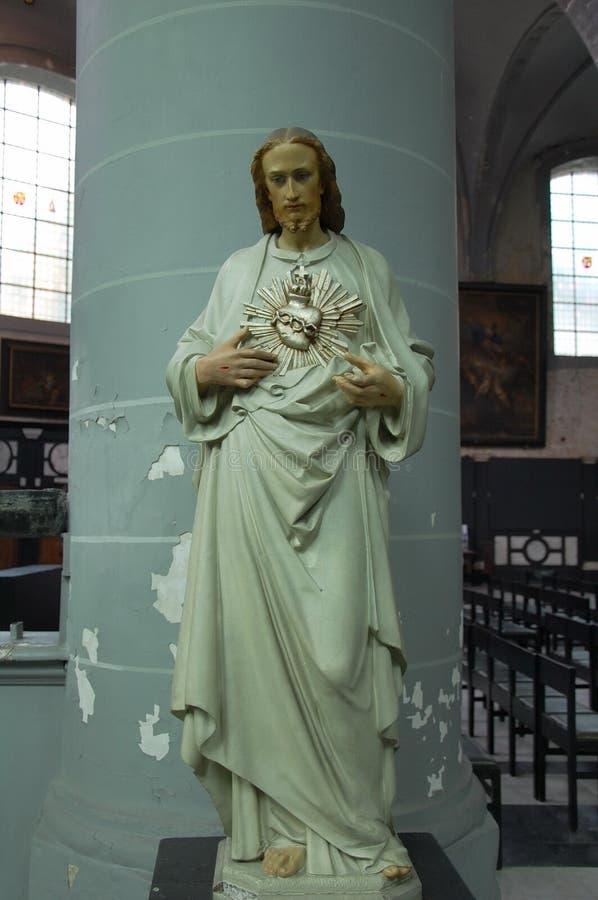 Beeldhouwwerk van Christus stock afbeeldingen