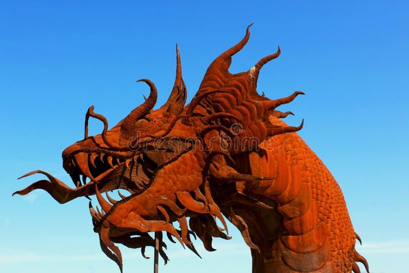 Beeldhouwwerk van de draak het hoofdkunst, het Park van de de Woestijnstaat van Anza Borrego royalty-vrije stock afbeelding