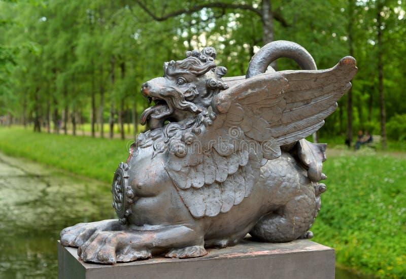 Beeldhouwwerk van een draak royalty-vrije stock afbeelding