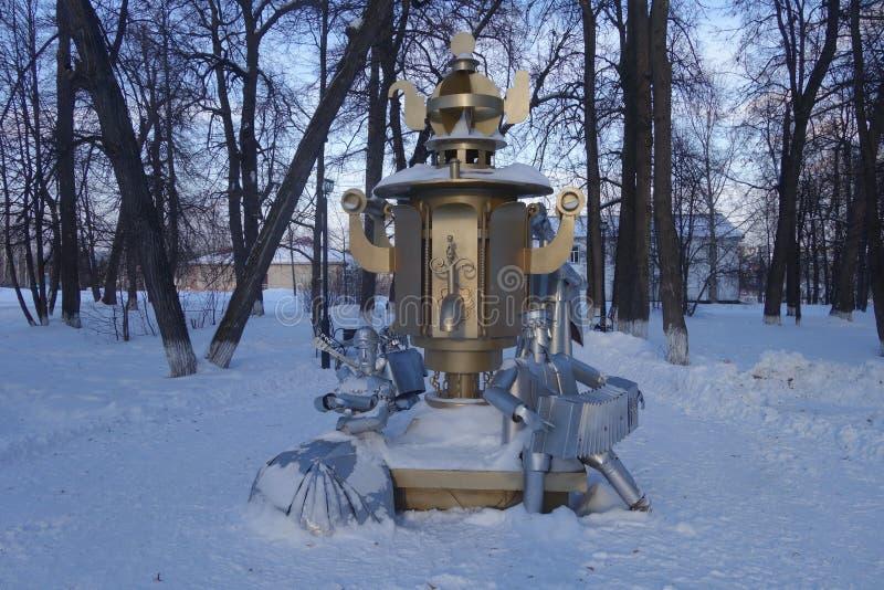 Beeldhouwwerk van een Russische samovar royalty-vrije stock afbeelding