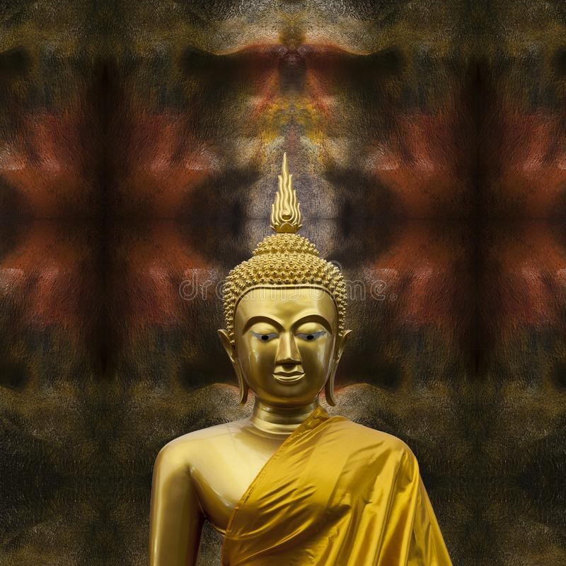 Beeldhouwwerk van Gautama Buddha stock fotografie