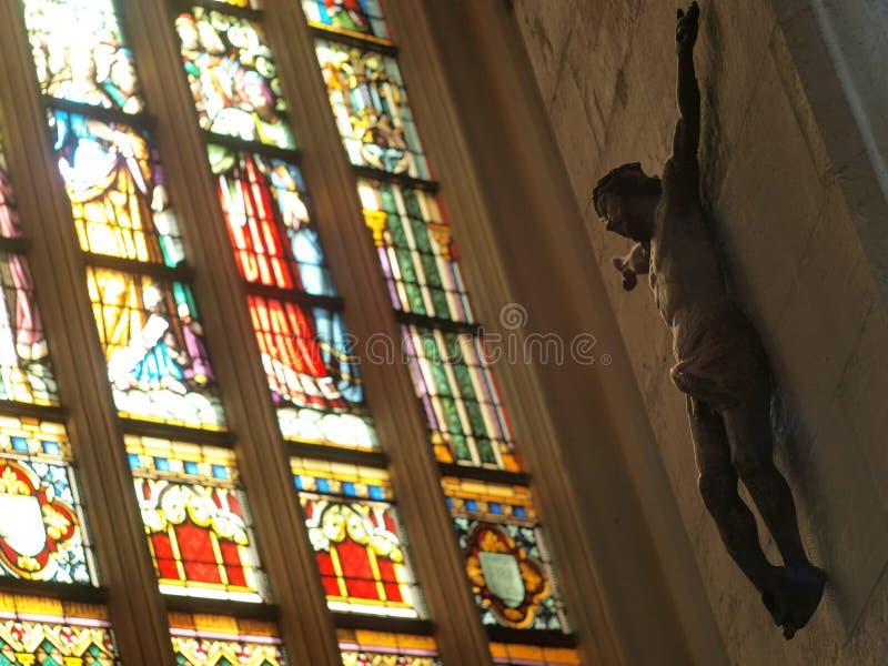 Beeldhouwwerk van Jesus stock fotografie