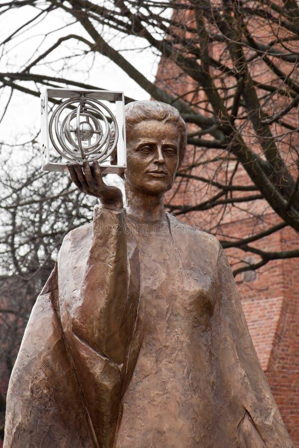 Beeldhouwwerk van Marie Sklodowska-Curie stock foto