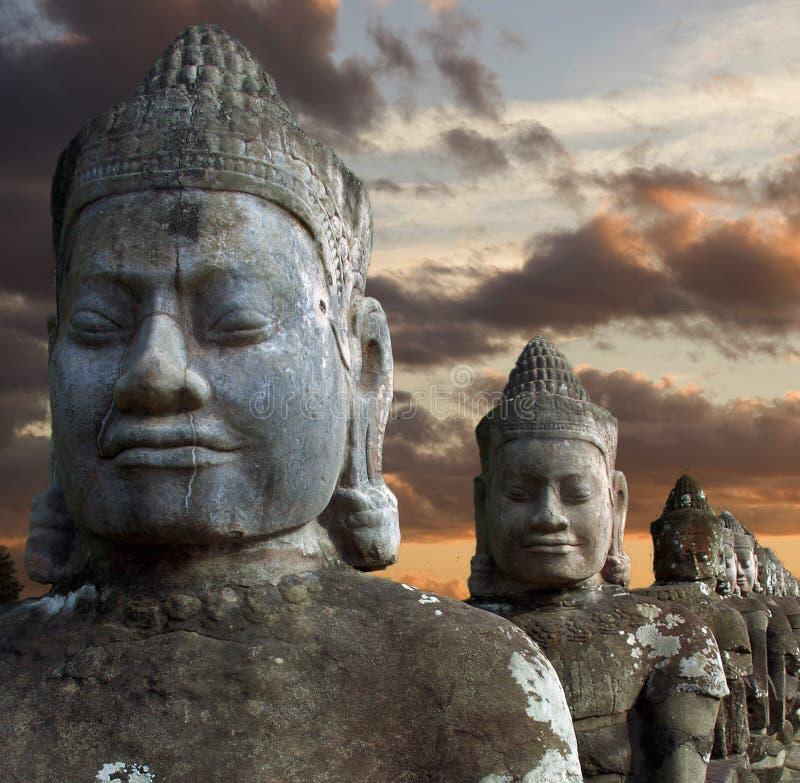 Beeldhouwwerken van demonnen van Azië royalty-vrije stock afbeelding