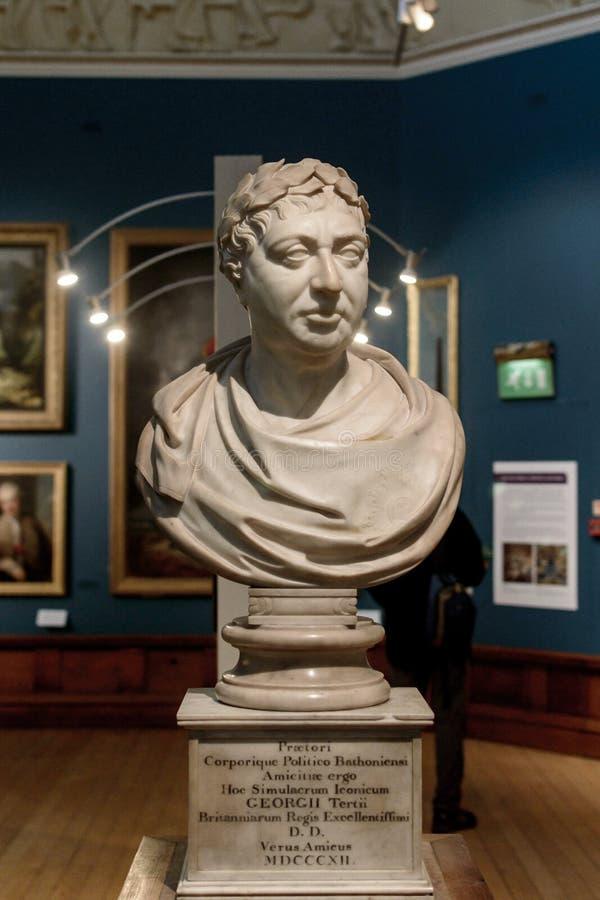 Beeldhouwwerkkoning George III C royalty-vrije stock afbeeldingen